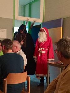 Visit from Santa and his hand Krampus